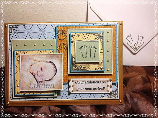 Gratulationskarte zur Geburt des Sohnes für einen Mann