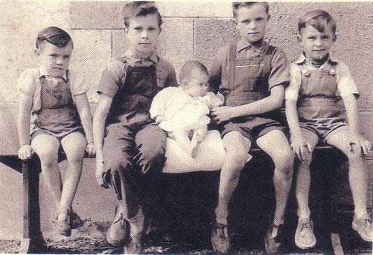 Serge, Bernard, Agnès, Paul et Christian
