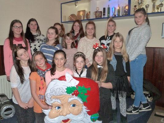 Die Teenstar Legends bei der Weihnachtsfeier