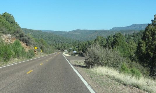 auf der AZ-260 Richtung Camp Verde