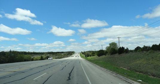 auf der US-290 nach Westen,