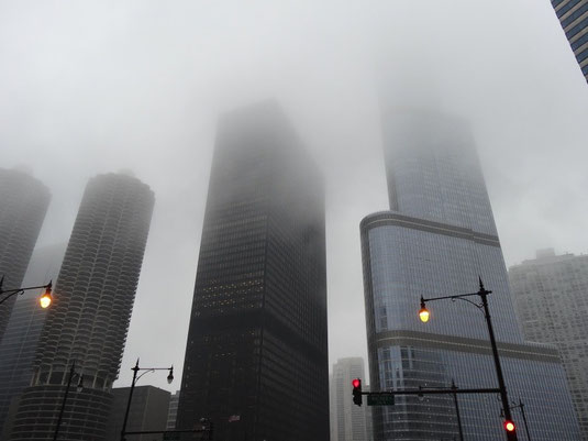 Chicago im Nebel