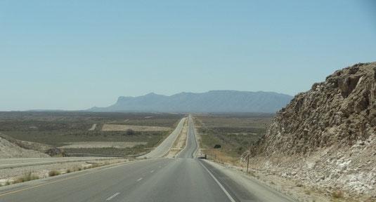 auf der US-180 zurück nach Texas