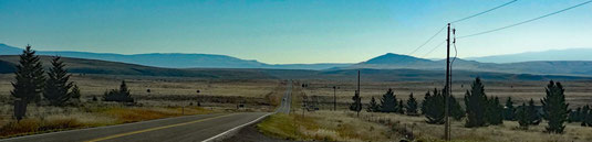 auf der MT-284 nach Süden Richtung Townsend