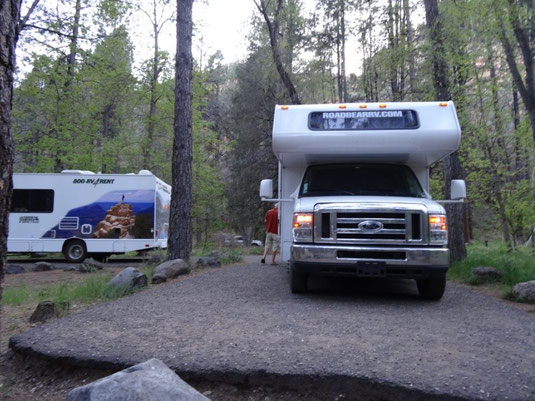 Oak Creek Canyon, Cave Springs Campground