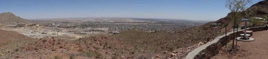 Blick hinunter auf El Paso