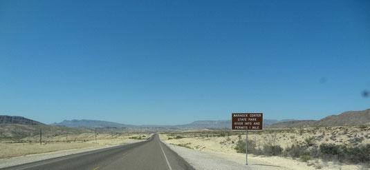 auf der Lone Star Ranch Road, von Terlingua nach Lajitas