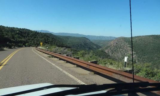 Zufahrt zum Tonto Natural Bridge State Park