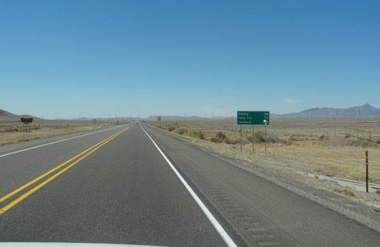 auf der NM-27 nach Süden