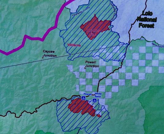 Powell und White Sand CG im gesperrten Gebiet