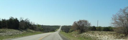 Noch mehr Hill Country, auf der US-281 Richtung Lampasas