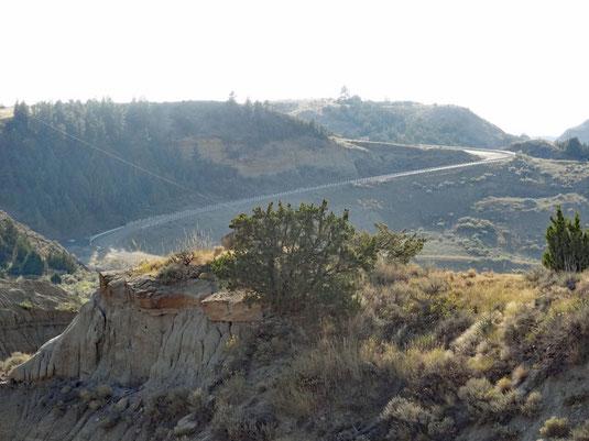 Makoshika SP, die Gravel-Steigungsstrecke - bei Trockenheit für unseren RV kein Problem