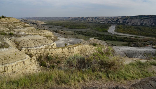 Theodore Roosevelt National Park, North Unit, Scenic Drive, River Bend Overlook - andere Richtung