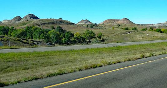 Interstate 94, eine Viertelstunde seit Medora