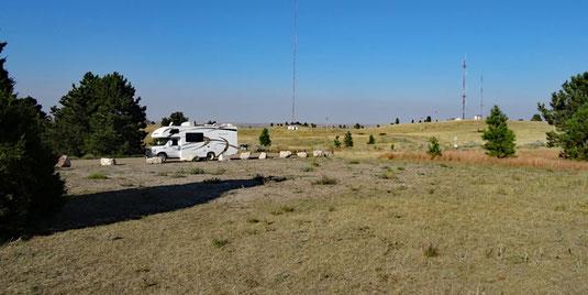 RV-taugliche Site 24 auf der Hochebene