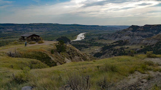 Theodore Roosevelt National Park, North Unit, Scenic Drive, River Bend Overlook