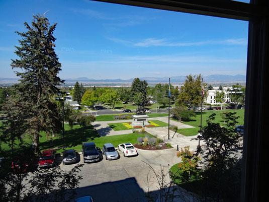 Blick aus einem Fenster des Kapitols in Helena