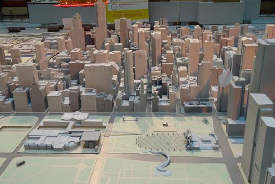 Modell von Chicago in der Chicago Architecture Foundation
