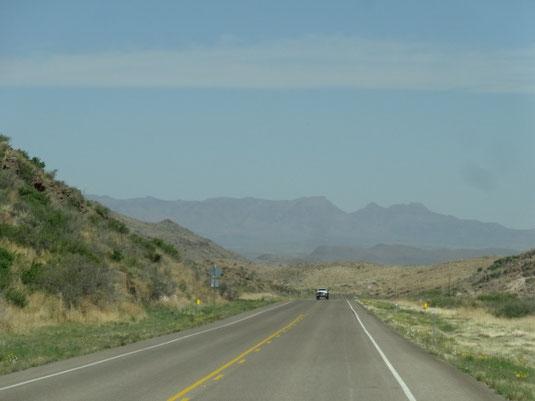 nach Norden auf der TX-17
