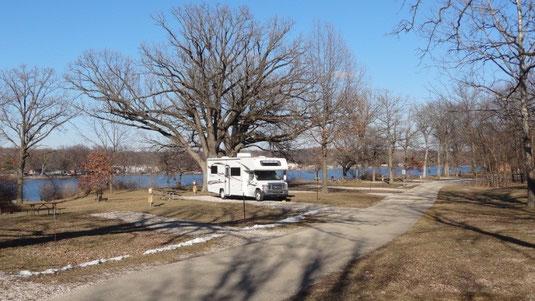 Campground im Illini State Park
