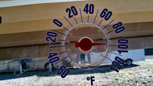 gegen Abend noch unerwartet heiß hier