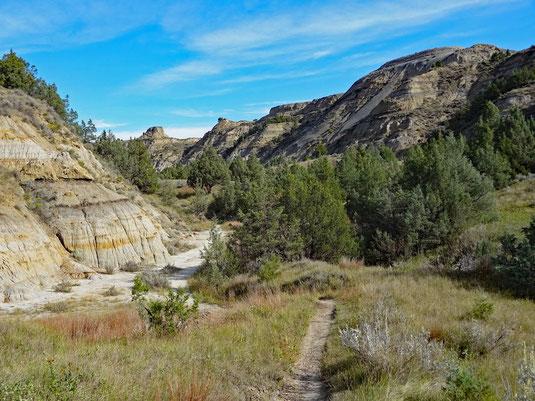 09:54 - unten entlang, noch auf dem Nature Trail
