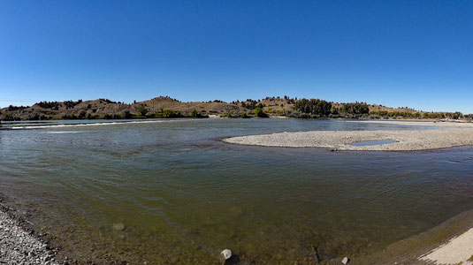 Yellowstone River am East Rosebud Campground