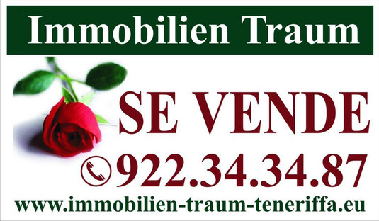 Bild:Visitenkarte von der Firma Immobilien Traum Teneriffa mit der Telefonnummer 0034 - 922343487