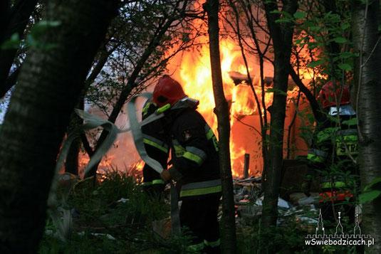 Pożar altanki w Świebodzicach, 26.05.2012
