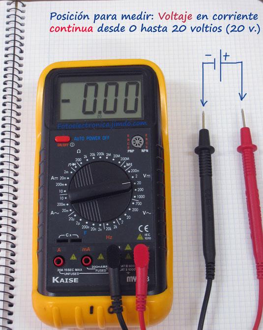 Escala de 20 voltios