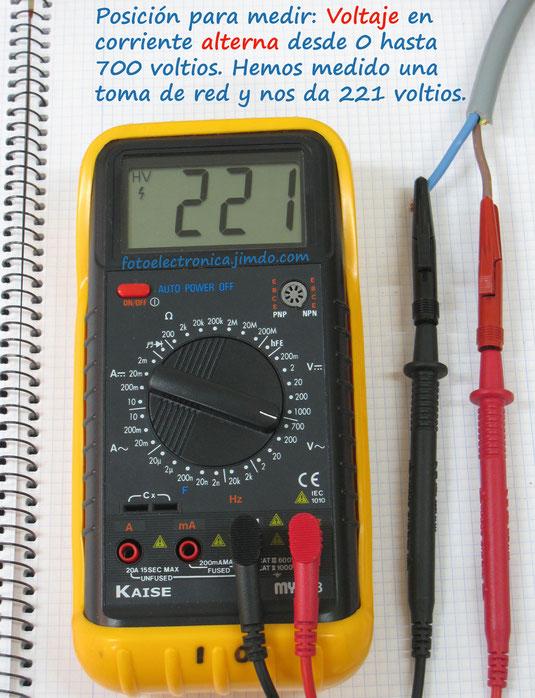 Escala 700 voltios en alterna