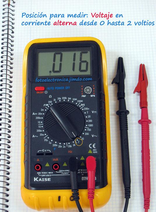 Escala de 2 voltios en alterna