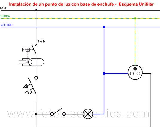 circuito de una lampara simple con base de enchufe