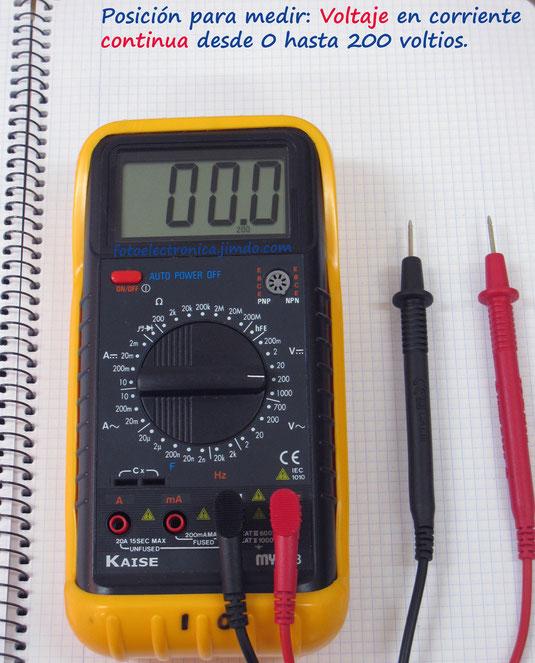 Escala de 200 voltios