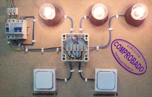 lamparas conmutada montaje puente