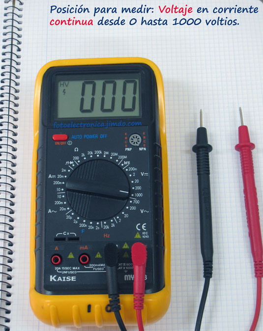 Escala de 1000 voltios