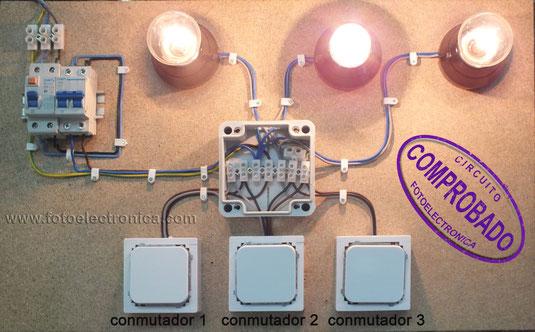 lamparas conmutada desde 3puntos