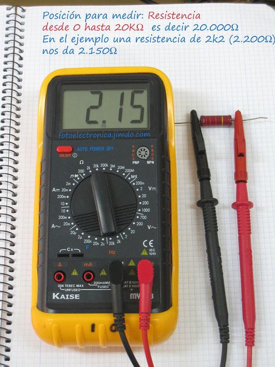 Medidas con el polimetro