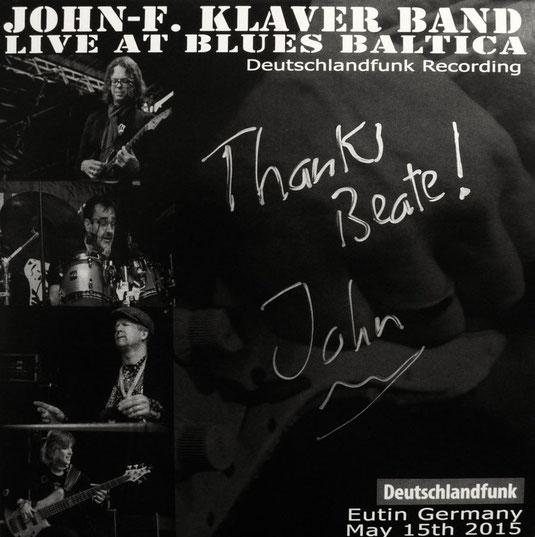 """JOHN-F. KLAVER BAND """"LIVE AT BLUES BALTICA"""""""