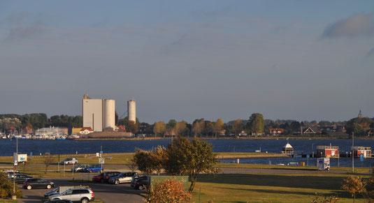 Blick auf Hafen Burgstaaken