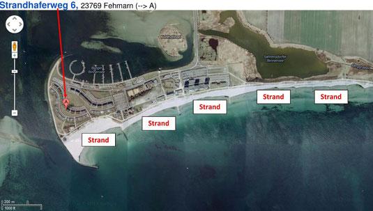 Luftbild mit Strandübersicht