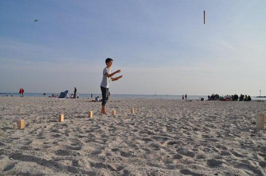 Strand + Spiel
