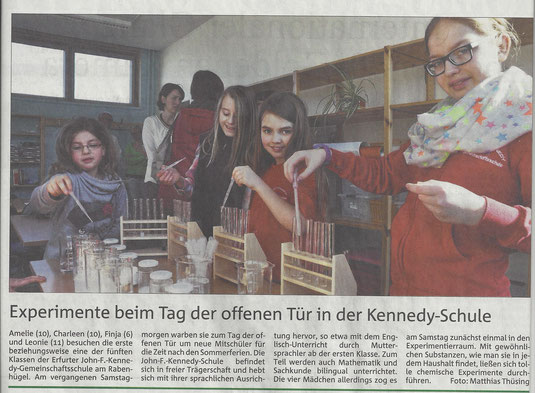 Tag der offenen Tür (Thüringer Allgemeine 02.03.2015)