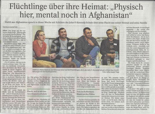 Thüringer Allgemeine 02.10.2015