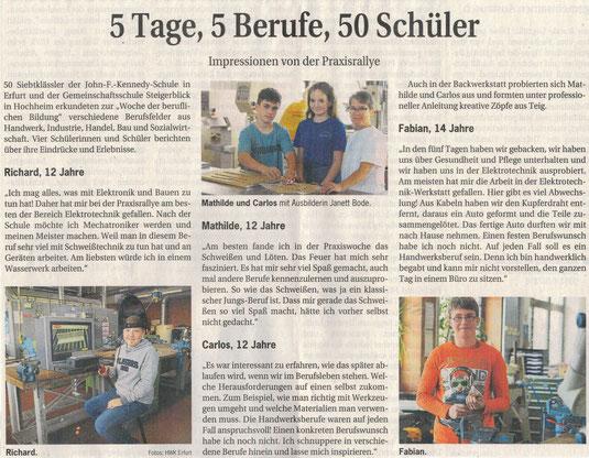 04/2018- Handwerkskammer Zeitung - im Bild unsere Mathilde