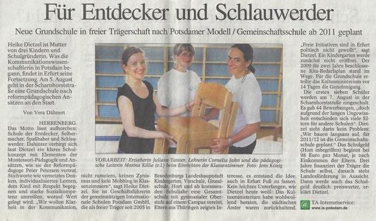 (Thüringer Allgemeine 28.07.2010)