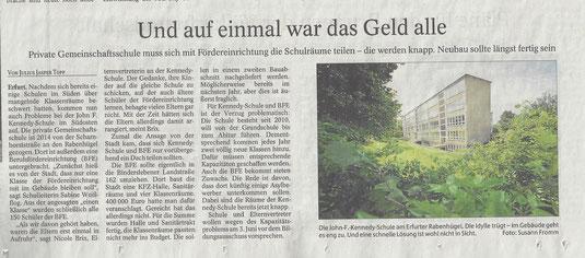 Patzprobleme (Thüringer Allgemeine 16.05.2015)