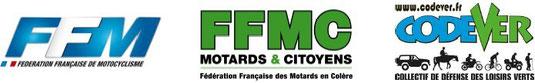 Logos FFM, FFMC, Codever