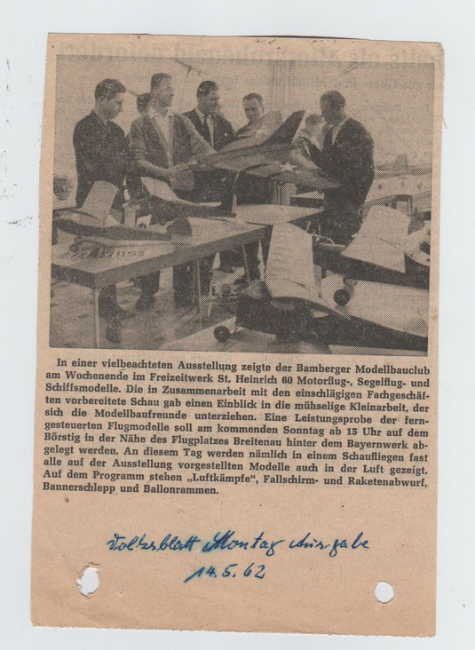 Quelle: Volksblatt 14.05.1962