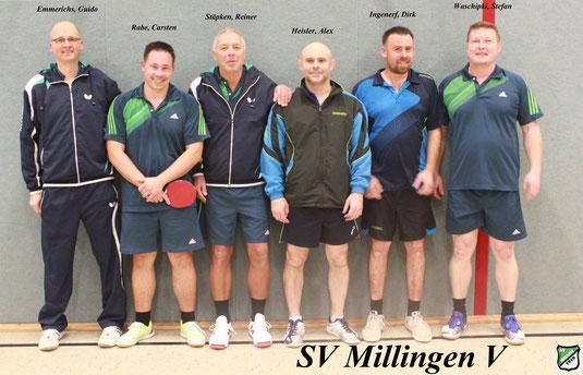 Hinrunde 12.11.2016 SV Millingen V - SV Orsoy 9 : 3